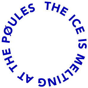 The ice is melting at the Pøules Logo